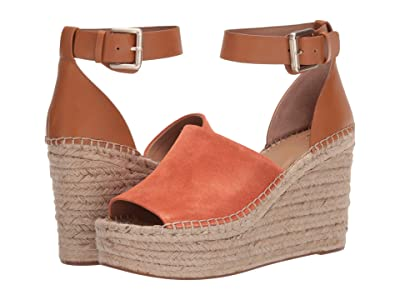 Marc Fisher LTD Adalyn Espadrille Wedge (Orange Suede 1) Women