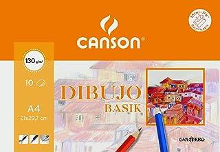 Papel Dibujo Basik Din A4 -sin Recuadro 130 Gramos -en Minipacks De 10 Hojas