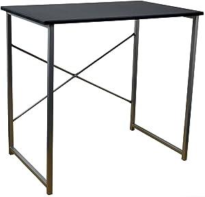 Harbour Housewares Computer Laptop Notebook Wooden Desk Table PC Office Workstation - Black
