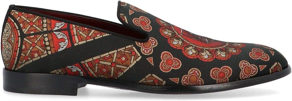 Dolce & gabbana luxury fashion  mocassini multicolore in pelle per uomo A50332AJ68189650
