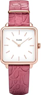 CLUSE Women's Quartz Watch with Leather Strap, Pink, 16 (Model: CL60020)
