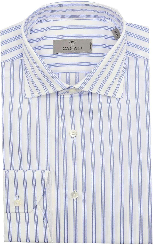 Canali Men's Modern Fit Striped Dress Shirt