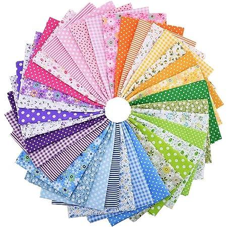 vorgeschnittene N/ähen Patchwork CHARS Stoffreste Baumwolle,50 St/ück Baumwollstoff meterware Stoffe 100/% Baumwolle DIY Baumwolltuch 25x25cm zum N/ähen Scrapbooking Rainbow