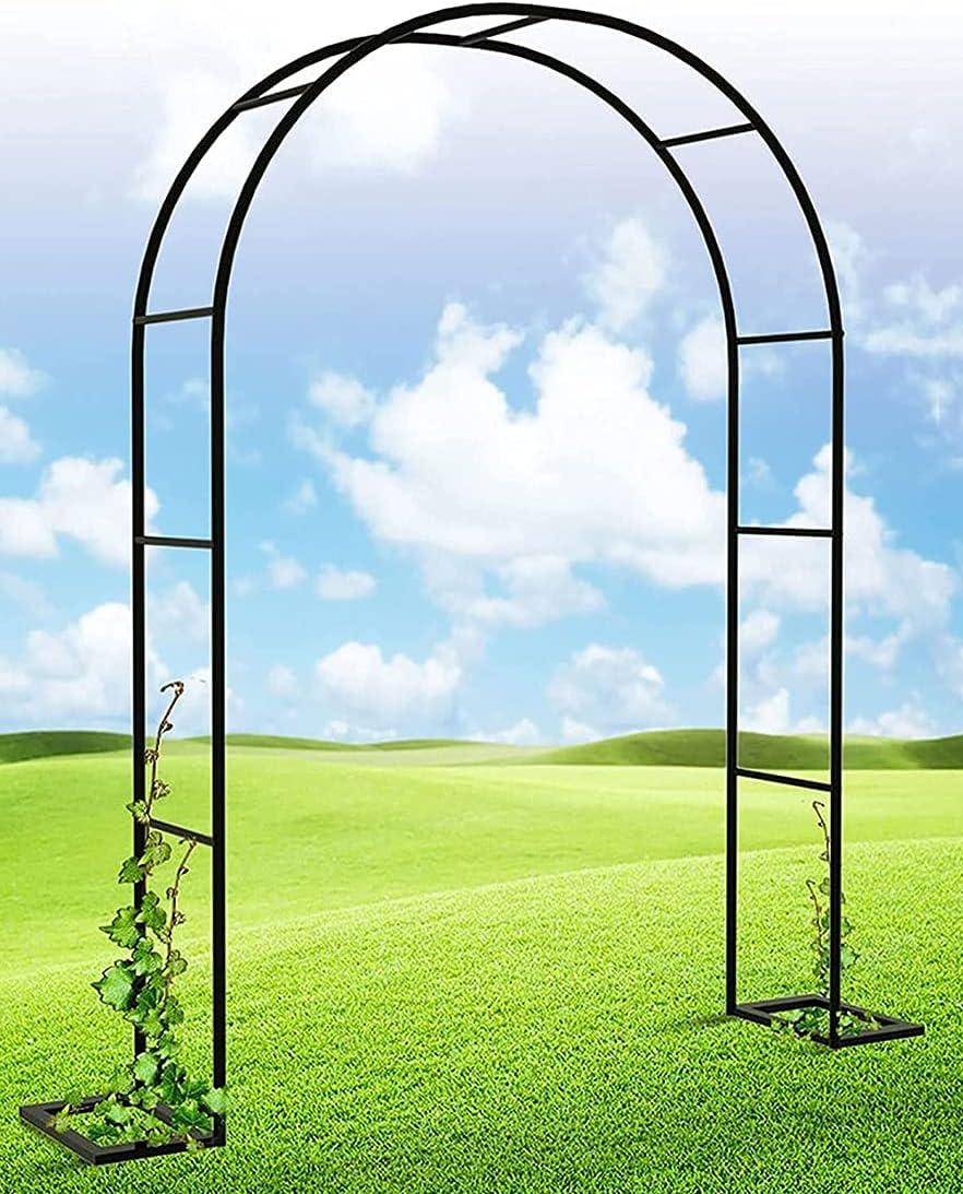YLTXZSFXY Rose Arch Boston Mall Metal Frame Regular store Garden Steel Pillar