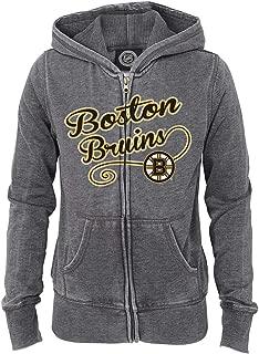 Outerstuff Boston Bruins NHL Girls' Grey Full Zip Fleece Hooded Jacket (4-16)