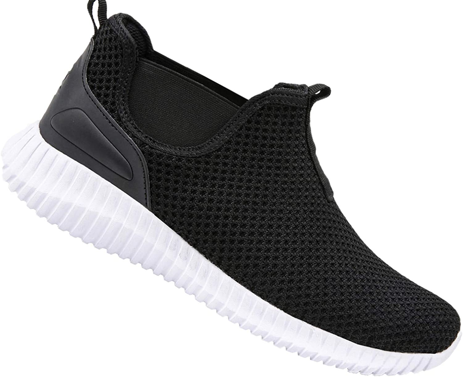 JINKUNL Mens Running shoes Casual Walking Sneakers Wide Width Workout Athletic shoes for Men Black White 12 D(M) US
