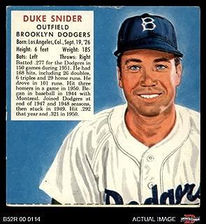 1952 Red Man # 21 NL x Duke Snider Brooklyn Dodgers (Baseball Card) (No Tab) Dean's Cards 3 - VG Dodgers