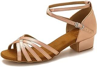 Yokala Womens Latin Salsa Dance Shoes for Social Beginner Low Heel Ballroom Practice Dancing Sandals S04