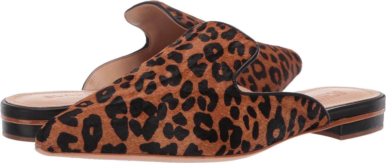 Schutz Womens Tracy Wild Leopard Sandstone Black 8.5 M