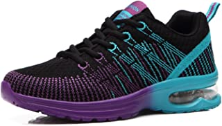 5be7f267 Zapatos de Running para Hombre Mujer Zapatillas Deportivo Outdoor Calzado  Asfalto Sneakers Negro Rojo Gris 35