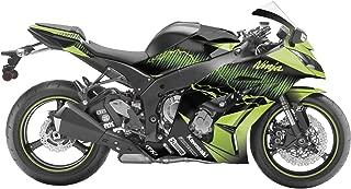 ZXMOTO K0208BLK ABS Motorcycle Bodywork Fairing Kit for Kawasaki Ninja 250 EX 250R ZX250 2008 2009 2010 2011 2012 Gloss Black Pieces//kit: 15