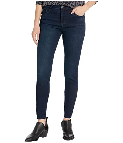KUT from the Kloth Connie High-Rise Fab Ab Ankle Skinny Raw Hem in Personally w/ Euro Base Wash (Personally/Euro Base Wash) Women