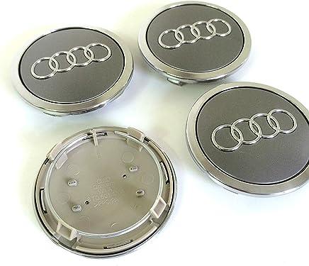 bouchons,enjoliveurs en alliage Iggy Lot de 4/caches-moyeux avec logo Audi 60/mm A3,/A4,/A6,/S4,/RS3,/S rivets