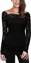 Best black lace top long sleeve Reviews