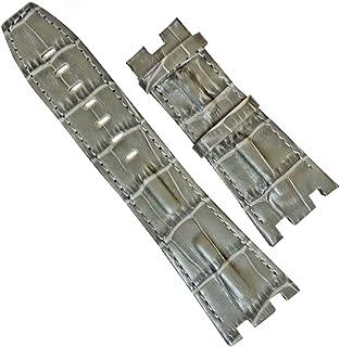 AUDEMARS PIGUET オーデマピゲの時計バンド交換 ロイヤルオーク オフショアダイバー 置換腕時計 レザーベルト 28mm グレー