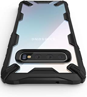 "Ringke Fusion-X Designed for Galaxy S10 Plus (6.4"") Case, Built in Dot Matrix Rear PC Anti-Cling Renovated Bumper Military Drop Tested Defense Double Protection for Galaxy S10 Plus (2019) - Black"