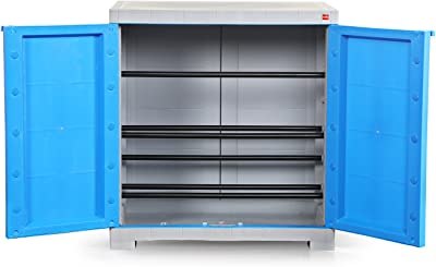 Cello-NOV_SHOERACK_B/G Novelty Compact Shoe Rack (Blue and Grey)(25 x 24 x 15Inches), Capacity: 8