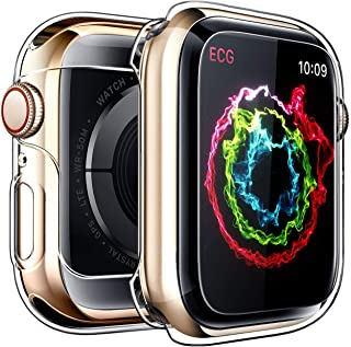 iWatch Overall Protective Case for Apple Watch Screen Protector Series4 44mm, Ultra Thin Clear iWatch 44mm Screen Protecto...