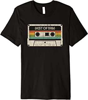 Vintage Best of 1986 33rd Birthday Cassette Premium T-Shirt