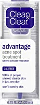 Clean & Clear Advantage Acne Spot Treatment, Oil Free Acne Treatment with Salicylic Acid, Witch Hazel, and BHA, Gel Pimple...