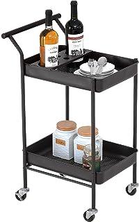 Vktech Bar Serving Cart Gold bar Serving cart with Wheels Tuankay bar Serving cart bar Serving cart Gold