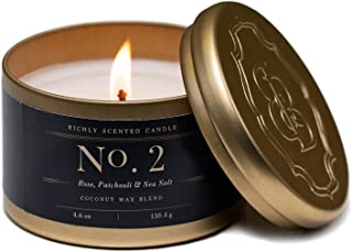 Patchouli Candles | Rose, Patchouli & Sea Salt | Fragrance No. 2 | Scented Wax Candles | Britten and Bailey's
