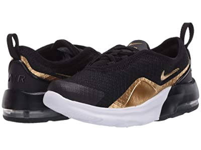 Nike Kids Air Max Motion 2 (Infant/Toddler) (Black/Metallic Gold/Black/White) Boys Shoes