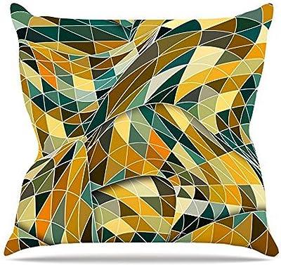 Kess InHouse Danny Ivan Tropical Fun Throw Pillow Yellow Pink 18 x 18