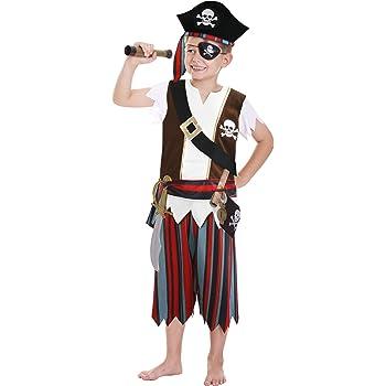 Amscan - Disfraz de pirata para niño, talla 3 - 6 años (CCS00008 ...