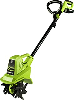Earthwise TC70020 20-Volt 7.5-Inch Cordless Tiller, (2AH Battery & Fast Charger Included)