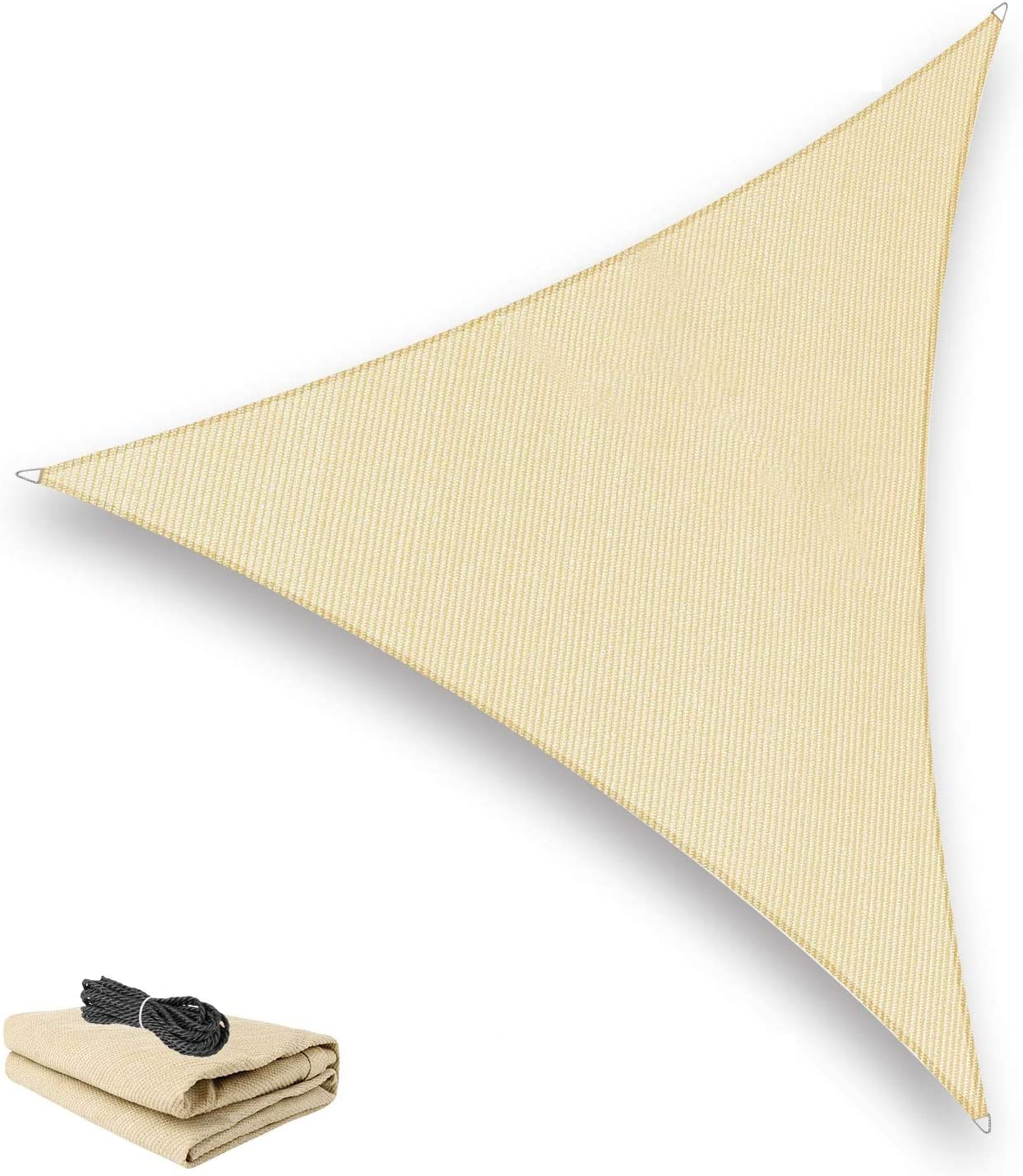 Pansonite 10' x 10'x Triangle Sun Sail New product type OFFicial site Shade Bloc Durable UV
