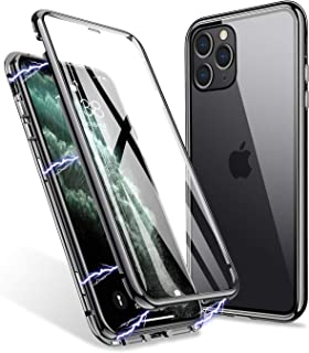 iPhone 11 Pro Max Case, ZHIKE Magnetic Adsorption Case Front and Back Tempered Glass Full Screen Coverage One-Piece Design...