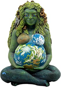 "Ebros Gift Millennial Gaia Earth Mother Goddess Te Fiti Statue 7"" Tall by Oberon Zell (Earth Green)"