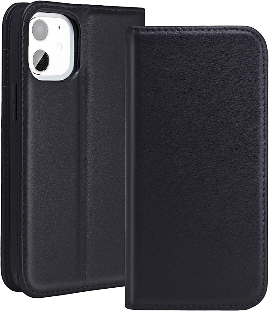 Redyrun, portafoglio, custodia per  iphone 12 mini, in pelle e silicone, porta carte di credito, IP12Mhandycase-B