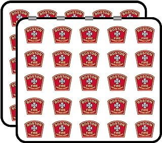 Boston Fire Dept Logo Shaped (Firefighter Department Mass) Sticker for Scrapbooking, Calendars, Arts, Kids DIY Crafts, Album, Bullet Journals