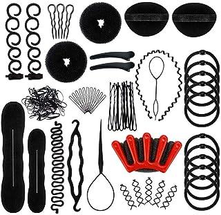 Set de accesorios para el peinado del cabello, 27Pcs herramientas Accesorios Hacedor Braid Cabello para trenzas francesas con clips de pelo/pines/trenza o lazo para mujeres niñas trenzado en espiral