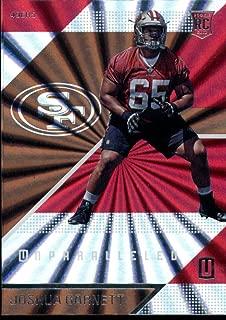 Football NFL 2016 Panini Unparalleled Rookie #171 Joshua Garnett #171 NM Near Mint RC Rookie 49ers