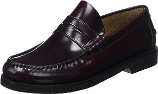 Fluchos | Mocasín de Hombre | Stamford F0047 Florentick Burdeos Zapato de Vestir | Mocasín de Piel de Vacuno de Primera Ca...