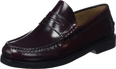 TALLA 41 EU. Fluchos | Mocasín de Hombre | Stamford F0047 Florentick Burdeos Zapato de Vestir | Mocasín de Piel de Vacuno de Primera Calidad | Cierre con | Piso de Goma Personalizado