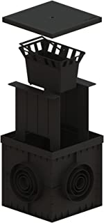 Standartpark - 12x12 Catch Basin Closed Grate Package with debris basket and partitions included