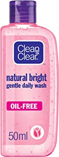 CLEAN & CLEAR Daily Face Wash, Natural Bright, 50ml