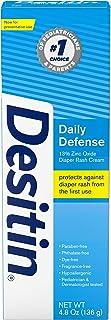 Desitin Daily Defense Baby Diaper Rash Cream with Zinc Oxide to Treat, Relieve & Prevent diaper rash, Hypoallergenic, Dye-...