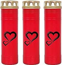 7 Tage Brenndauer Grablampe Grab Kerze Rose Weiß Grabkerze 3er Pack Grablicht