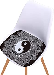 40Cm Sun God Bay Window Pad Sponge N-Slip Chair Pad Middle Finger Black and White Tai Chi Cushion,B,4040Cm