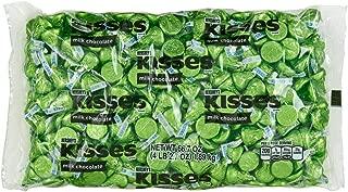 HERSHEY'S KISSES Chocolate Candy, Green Foils, 4.1 lb Bulk Candy