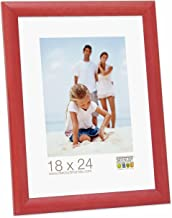Ideal Promo Cornici in Legno, Molte Dimensioni e Colori, Cornice Foto - Rosso, 24x30