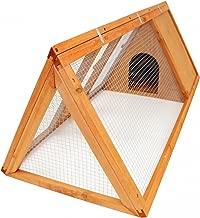 Oypla Triangle extérieur en Bois Lapin Guinée Pig Pet Hutch Run Cage