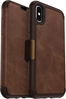 OtterBox Strada Series Case for iPhone Xs & iPhone X - Bulk Packaging - Espresso (Dark Brown/Worn Brown Leather)