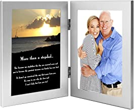 Stepfather Gift, Touching Poem for Stepdad for Birthday or Christmas in Double Frame