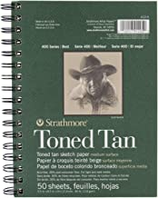 Strathmore STR-412-5 50 Sheet Toned Tan Sketch Pad, 5.5 by 8.5""